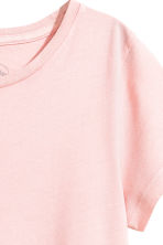 Cotton T-shirt - Light pink - Ladies | H&M CN 3