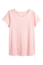 Cotton T-shirt - Light pink - Ladies | H&M CN 2