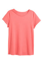Cotton T-shirt - Coral pink -  | H&M 2