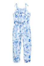 Patterned jumpsuit - White/Leaf -  | H&M 2
