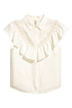 Frilled blouse - Natural white - Ladies | H&M CN 2
