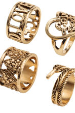 8-pack rings - Gold - Ladies | H&M 2
