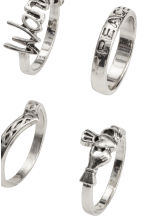 8-pack rings - Silver - Ladies | H&M CN 2