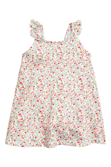 Patterned dress - White/Patterned - Kids | H&M 1