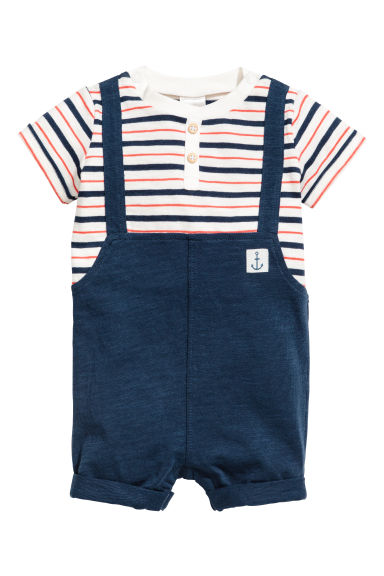 Jersey sailor suit - Dark blue - Kids | H&M CA 1