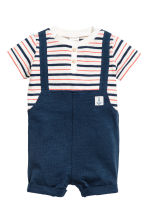 Jersey sailor suit - Dark blue - Kids | H&M 1