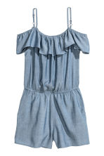Off-the-shoulder playsuit - Blue - Kids | H&M 2