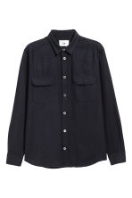 Silk utility shirt - Black - Men | H&M 2