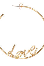 Hoop earrings - Gold/Love - Ladies | H&M GB 2