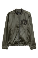 Bomber jacket - Dark khaki green/XO - Men | H&M CN 2