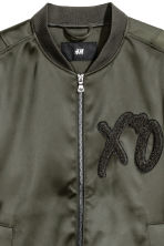 Bomber jacket - Dark khaki green/XO - Men | H&M CN 3