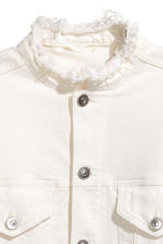 Denim jacket - White denim - Ladies | H&M 3