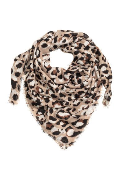 Patterned shawl - Leopard print - Ladies | H&M CN
