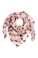 Patterned shawl - Powder pink/Floral - Ladies | H&M 1