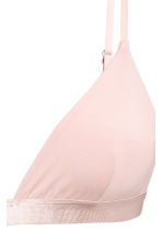 Soft triangle bra - Powder pink - Ladies | H&M CN 2