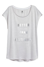 運動上衣 - Light grey marl - Ladies | H&M 2