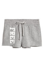 Sweatshirt shorts - Grey marl - Ladies | H&M CN 2