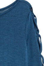 Fine-knit jumper - Blue - Ladies | H&M CN 3