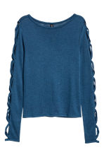 Fine-knit jumper - Blue - Ladies | H&M CN 2