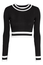Pullover corto a coste - Nero - DONNA | H&M IT 2