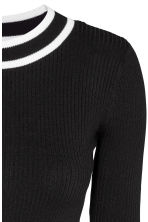 Pullover corto a coste - Nero - DONNA | H&M IT 3
