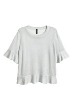 Flounced top - Grey - Ladies | H&M CN 2