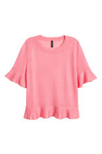 Flounced top - Pink  - Ladies | H&M CN 2