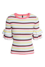 Knitted top - Multicoloured/Striped - Ladies | H&M 2