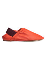 Slip-on leather loafers - Orange -  | H&M 1