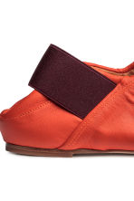 Slip-on leather loafers - Orange -  | H&M 4