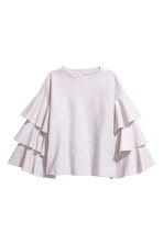Top with tiered sleeves - Light purple - Ladies | H&M CN 2