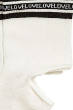 2-pack ankle socks - Black/White - Ladies | H&M 2