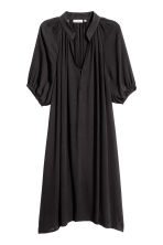 Crinkled dress - Black - Ladies | H&M CN 2