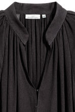 Crinkled dress - Black - Ladies | H&M CN 3