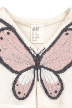 Fine-knit bolero - Natural white/Butterfly -  | H&M 2