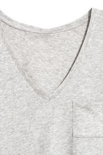 V-neck top - Light grey marl - Ladies | H&M CN 3