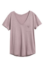 V領上衣 - Heather purple - Ladies | H&M 2