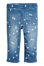 Denim capri leggings - Denim blue/Star - Kids | H&M 2