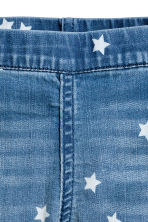 Denim capri leggings - Denim blue/Star - Kids | H&M 3
