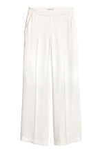Wide trousers - White - Ladies | H&M CN 2
