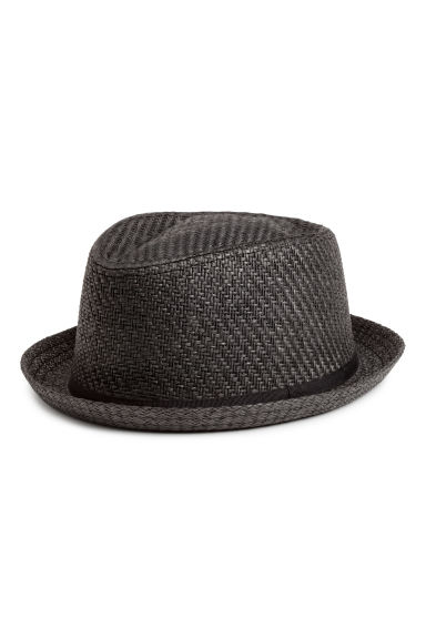 Straw hat - Black - Men | H&M 1
