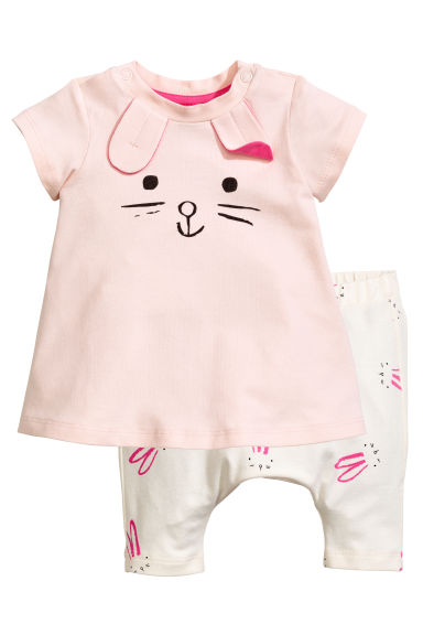 Dress with short leggings - Powder pink - Kids | H&M 1