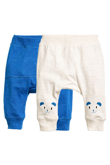 2-pack jersey trousers - Light beige - Kids | H&M