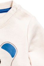 Printed sweatshirt - Light beige - Kids | H&M 2