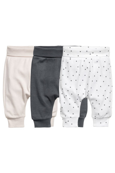 3-pack leggings - Dark grey - Kids | H&M 1