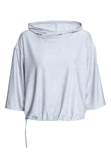 Hooded yoga top