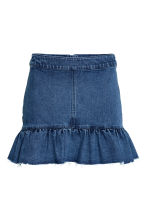 Denim skirt with a flounce - Denim blue - Ladies | H&M CN 2