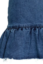 Denim skirt with a flounce - Denim blue - Ladies | H&M CN 4