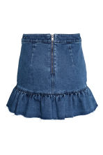 Denim skirt with a flounce - Denim blue - Ladies | H&M CN 3