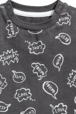 Printed T-shirt - Dark grey - Kids | H&M CA 2